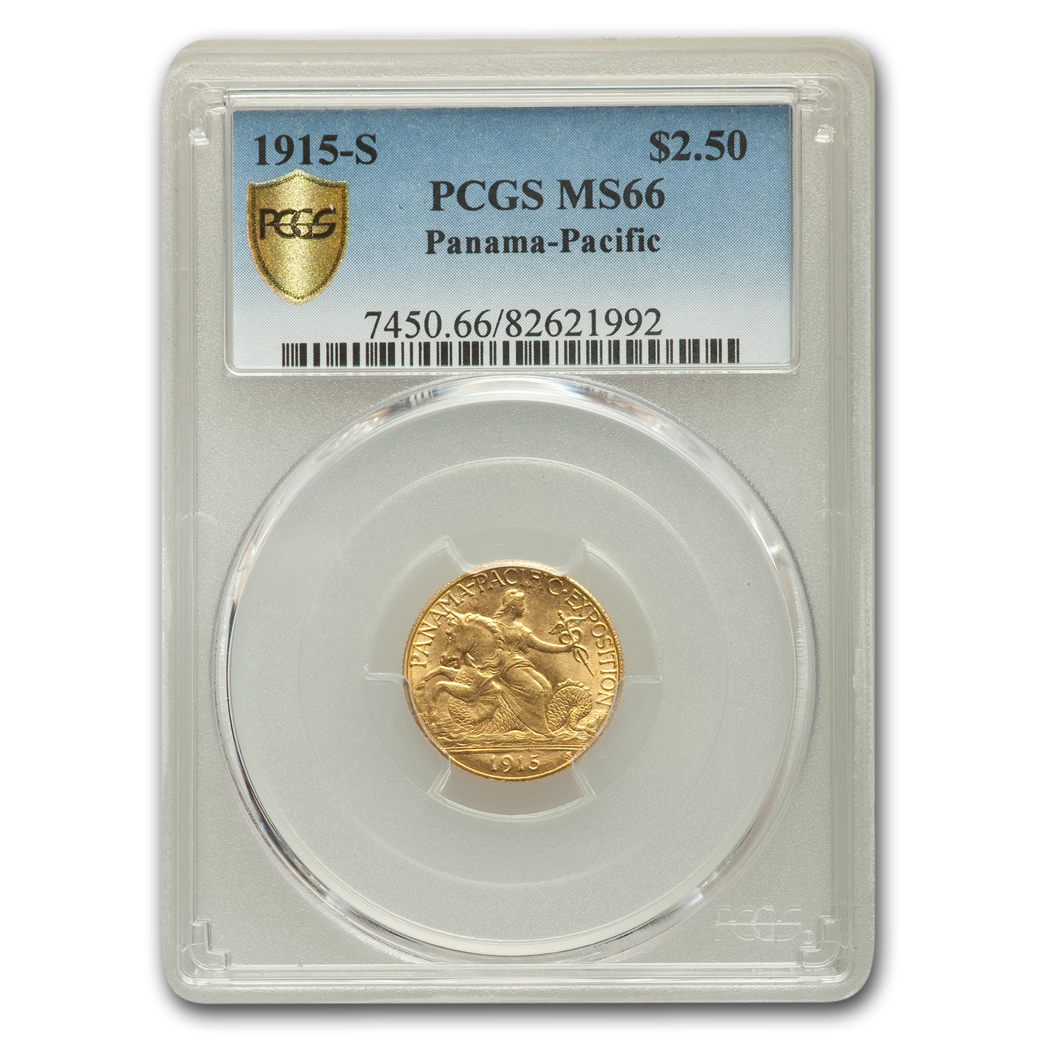 1915-S Gold $2.50 Panama-Pacific MS-66 PCGS
